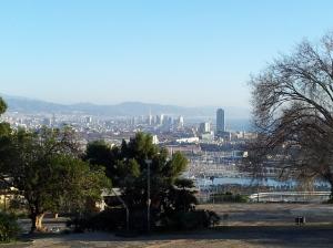 Barcelone vue de Montjuich