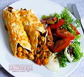 Enchiladas de viande et pois chiche