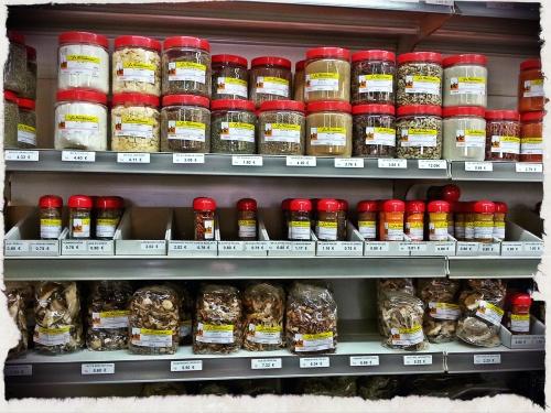 Épices + champignons déshydratés