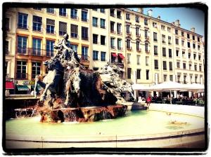 Lyon (Rhône) - Fontaine de Bartholdi - Place des Terreaux