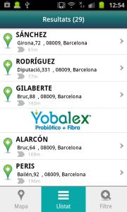 Adresses des pharmacies