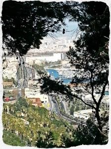 Port vu de  Montjuic