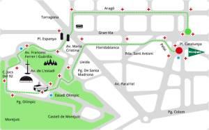 Parcours Cursa El Corte Inglés