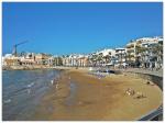 Playa San Sebastián en Sitges