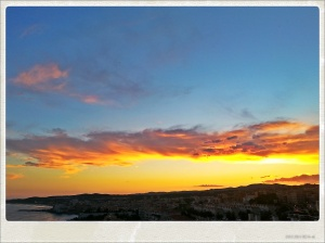Coucher de soleil à Sitges