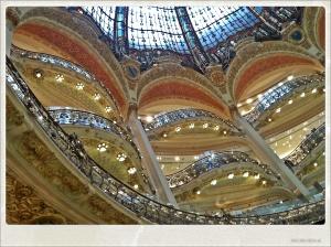 Cúpula de las Galeries Lafayette. ¡Magnífica!