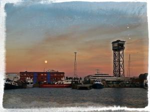 Vue du port depuis le Maremagnum