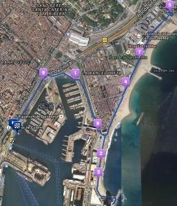 Parcours Barceloneta