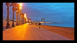 Running à la Barceloneta