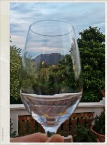 Vue de la terrasse de Mas Figueres.